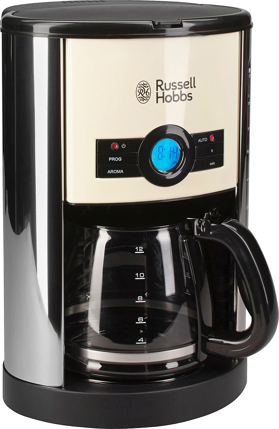 russell hobbs glas kaffeemaschine cottage creme 18498 56. Black Bedroom Furniture Sets. Home Design Ideas