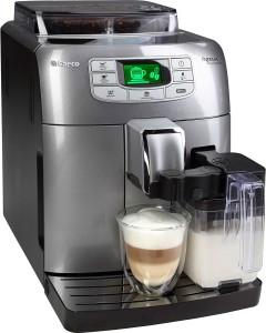 Saeco Kaffeevollautomat HD8753/71 Intelia Evo One Touch Cappuccino Silber