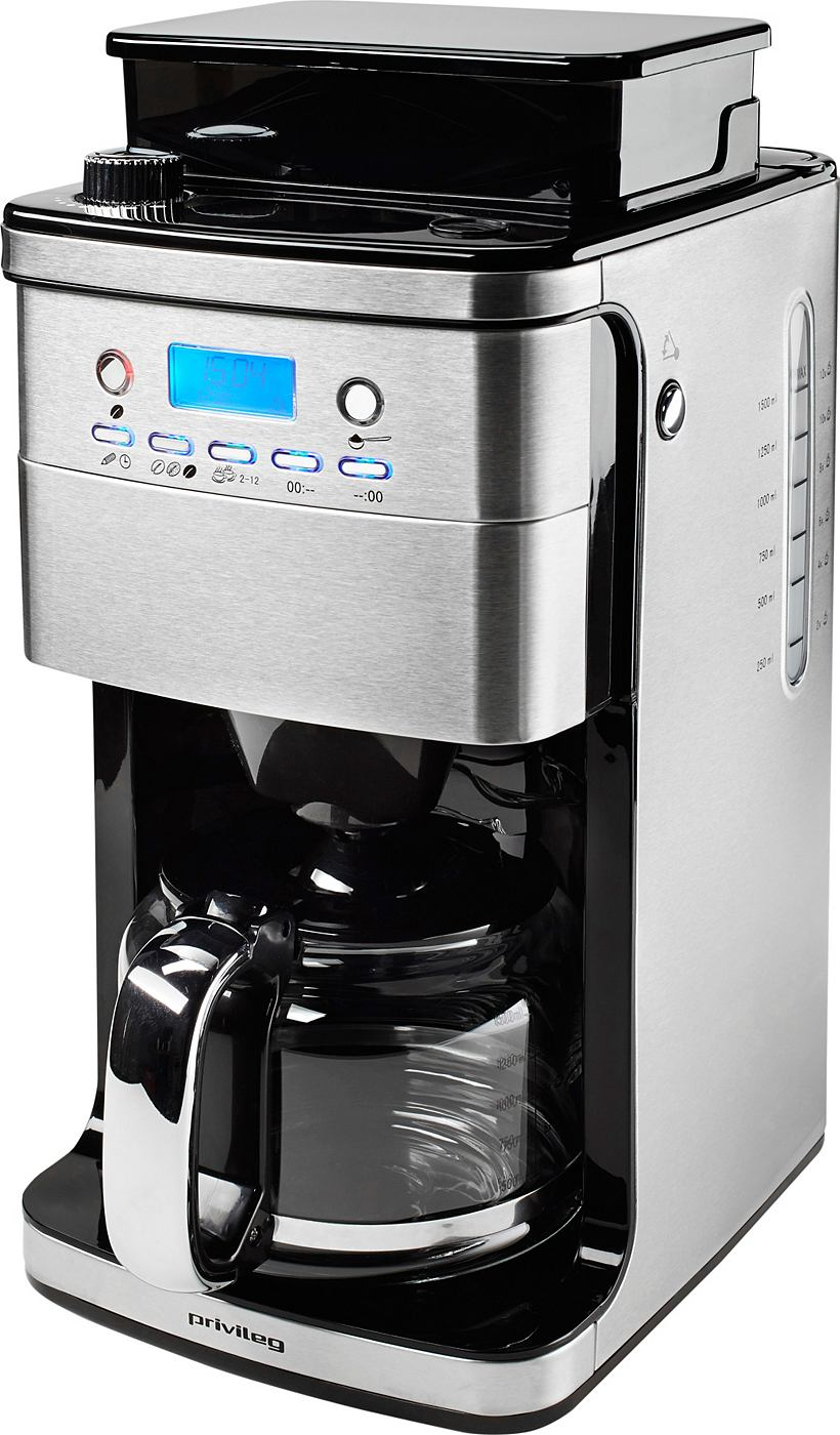 privileg kaffeemaschine cm4266 a mit mahlwerk glaskanne 12 tassen edelstahlgeh use. Black Bedroom Furniture Sets. Home Design Ideas