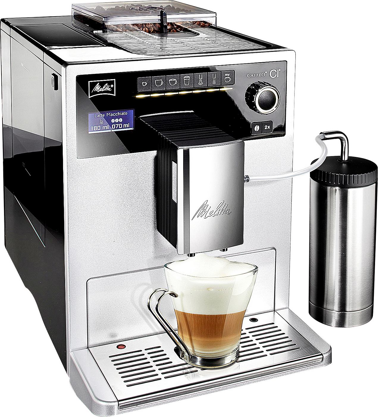 melitta e 970 306 kaffeevollautomat caffeo ci one touch cappuccino lcd display. Black Bedroom Furniture Sets. Home Design Ideas